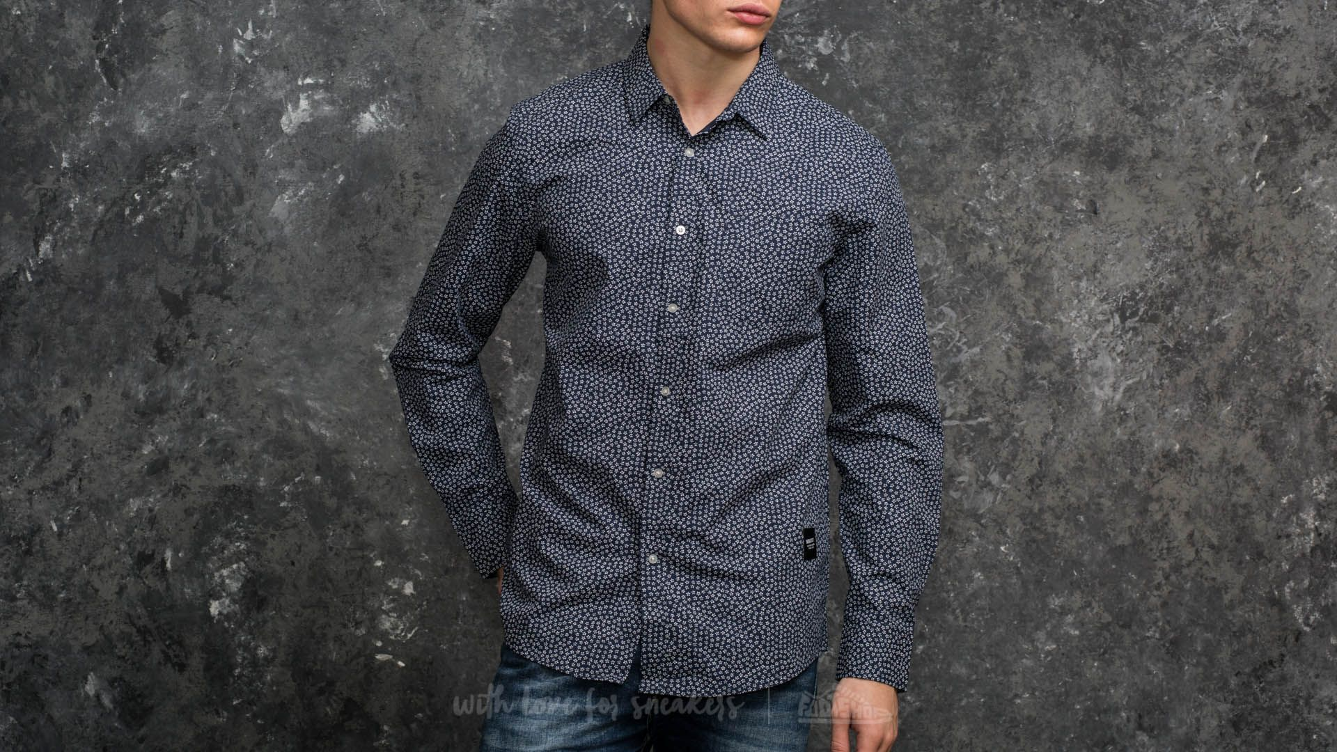 Wemoto Ohata Shirt Navy Blue